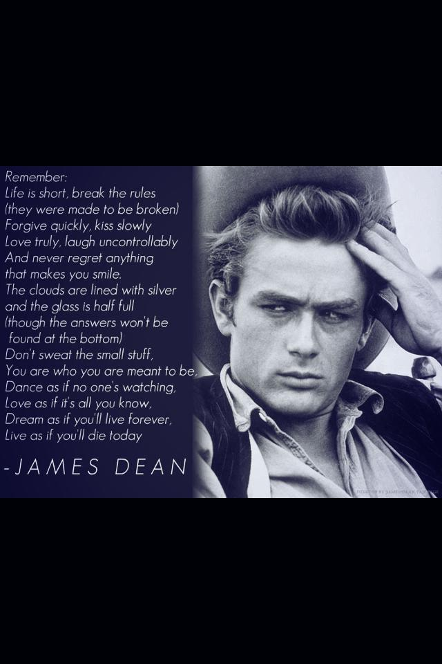 Thoughts from James Dean