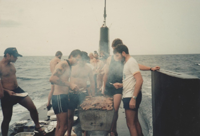 barbecuing-on-top-of-a-moving-submarine